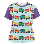 Trains Women's Crew T-Shirt (Personalized)