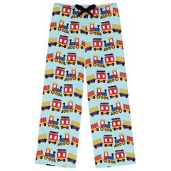 Trains Womens Pajama Pants (Personalized)