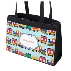 Trains Zippered Everyday Tote (Personalized)