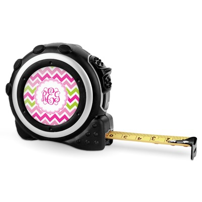 Pink & Green Chevron Tape Measure - 16 Ft (Personalized)