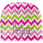 Pink & Green Chevron Baby Hat (Beanie) (Personalized)