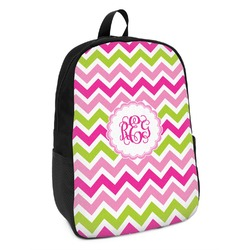Pink & Green Chevron Kids Backpack (Personalized)