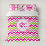 Pink & Green Chevron Duvet Covers (Personalized)