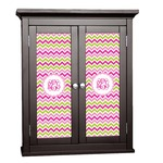 Pink & Green Chevron Cabinet Decal - Custom Size (Personalized)