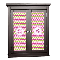 Pink & Green Chevron Cabinet Decal - Large (Personalized)