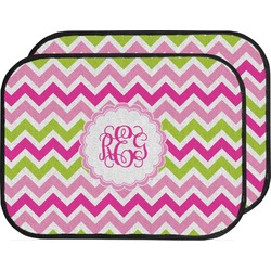 Pink & Green Chevron Car Floor Mats (Back Seat) (Personalized)