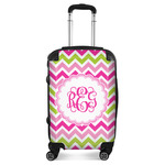 Pink & Green Chevron Suitcase (Personalized)