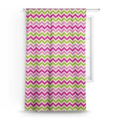Pink & Green Chevron Curtain (Personalized)