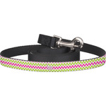 Pink & Green Chevron Dog Leash (Personalized)