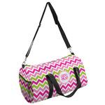 Pink & Green Chevron Duffel Bag (Personalized)