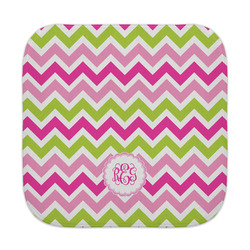 Pink & Green Chevron Face Towel (Personalized)