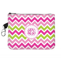 Pink & Green Chevron Golf Accessories Bag (Personalized)