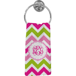 Pink & Green Chevron Hand Towel - Full Print (Personalized)