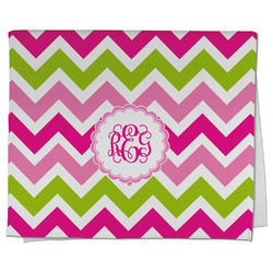 Pink & Green Chevron Kitchen Towel - Full Print (Personalized)