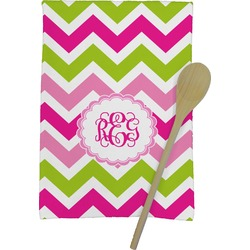 Pink & Green Chevron Kitchen Towel - Full Print (Personalized)