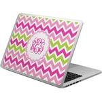 Pink & Green Chevron Laptop Skin - Custom Sized (Personalized)