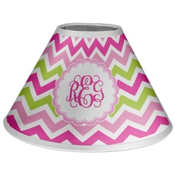 Pink & Green Chevron Coolie Lamp Shade (Personalized)