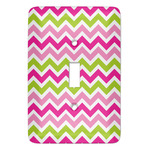 Pink & Green Chevron Light Switch Covers (Personalized)