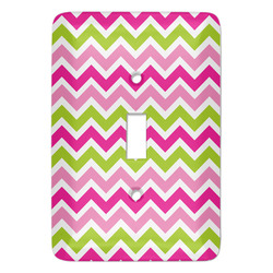 Pink & Green Chevron Light Switch Covers - Multiple Toggle Options Available (Personalized)