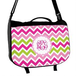 Pink & Green Chevron Messenger Bag (Personalized)