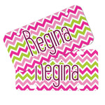 Pink & Green Chevron Mini/Bicycle License Plates (Personalized)