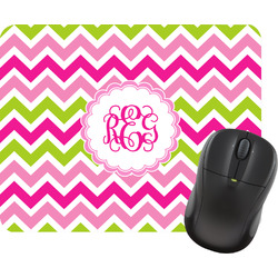 Pink & Green Chevron Mouse Pad (Personalized)