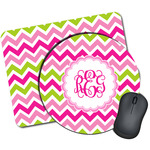 Pink & Green Chevron Mouse Pads (Personalized)
