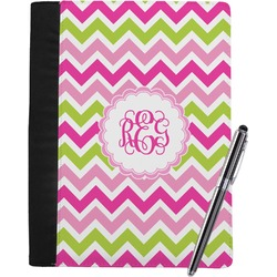 Pink & Green Chevron Notebook Padfolio (Personalized)