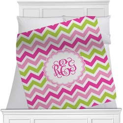 Pink & Green Chevron Blanket (Personalized)