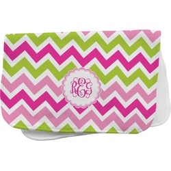 Pink & Green Chevron Burp Cloth (Personalized)