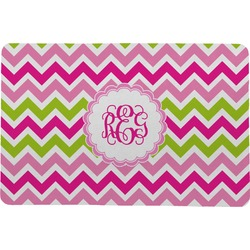 "Pink & Green Chevron Comfort Mat - 24""x36"" (Personalized)"