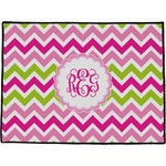 Pink & Green Chevron Door Mat (Personalized)