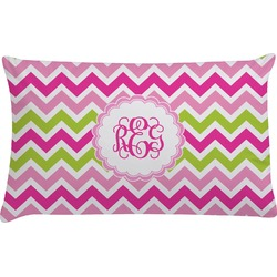 Pink & Green Chevron Pillow Case (Personalized)