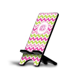 Pink & Green Chevron Phone Stand (Personalized)