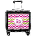 Pink & Green Chevron Pilot / Flight Suitcase (Personalized)