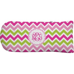 Pink & Green Chevron Putter Cover (Personalized)
