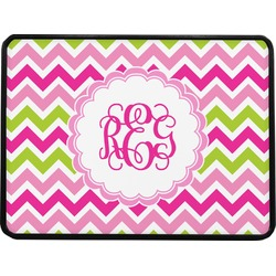 """Pink & Green Chevron Rectangular Trailer Hitch Cover - 1.25"""" (Personalized)"""