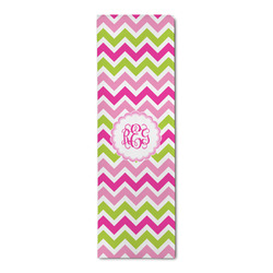 Pink & Green Chevron Runner Rug - 3.66'x8' (Personalized)