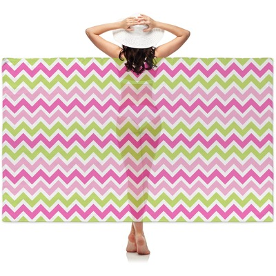 Pink & Green Chevron Sheer Sarong (Personalized)