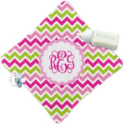 Pink & Green Chevron Security Blanket (Personalized)