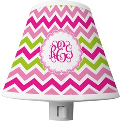 Pink & Green Chevron Shade Night Light (Personalized)