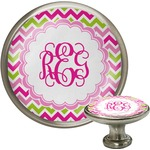 Pink & Green Chevron Cabinet Knobs (Personalized)