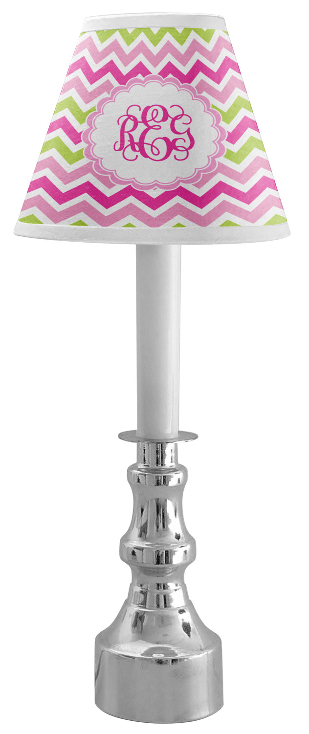 Pink Amp Green Chevron Chandelier Lamp Shade Personalized