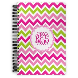 Pink & Green Chevron Spiral Notebook (Personalized)