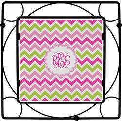 Pink & Green Chevron Square Trivet (Personalized)