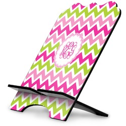 Pink & Green Chevron Stylized Tablet Stand (Personalized)