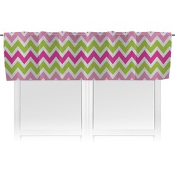 Pink & Green Chevron Valance (Personalized)