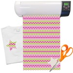 Pink & Green Chevron Heat Transfer Vinyl Sheet (12