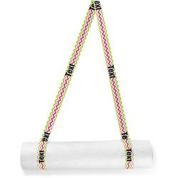 Pink & Green Chevron Yoga Mat Strap (Personalized)