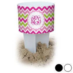 Pink & Green Chevron Beach Spiker Drink Holder (Personalized)